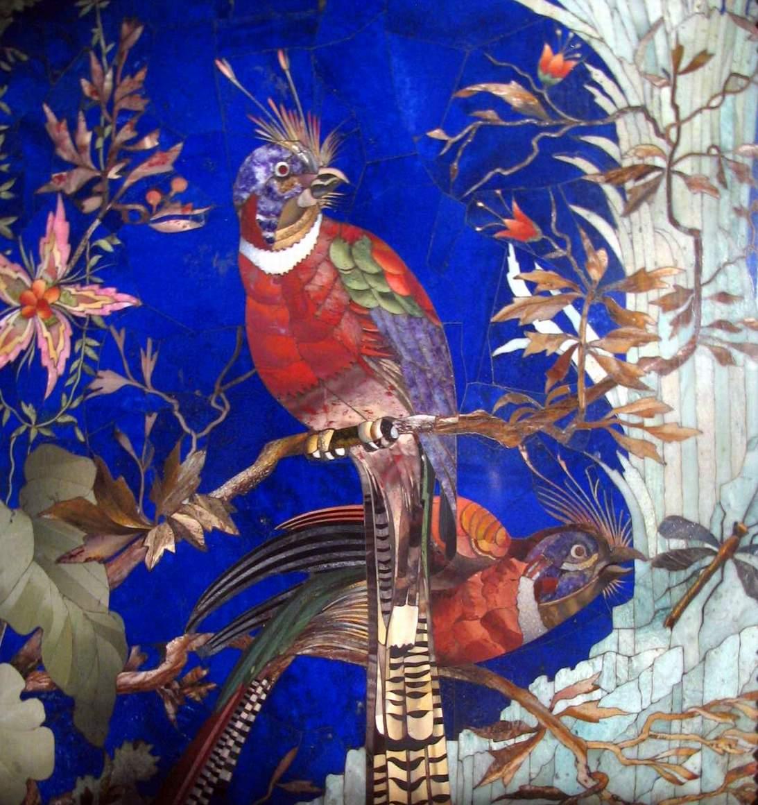 Мозаика птицы своими руками
